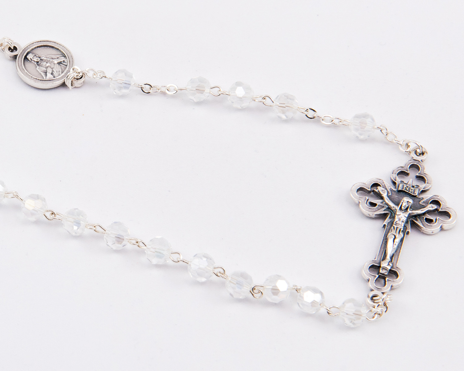 LORETOgift Transparent Crystal Kant-Tangle Rosary – 6mm beads Photo A